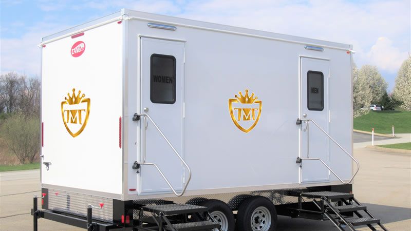 The Mobile Throne Portable Restroom Trailers